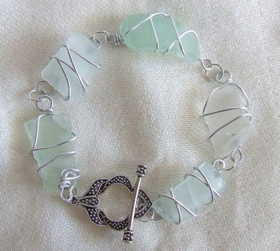 Wire Wrapped Sea Glass / Beach Glass by ThePeculiarTreasures