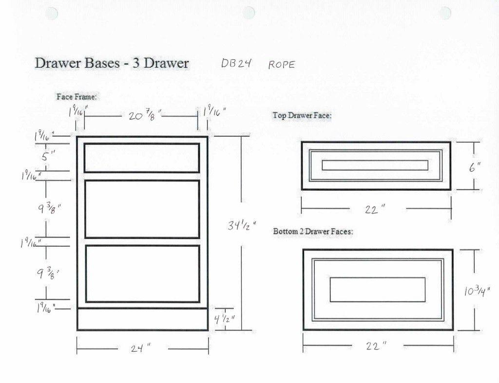 2019 kitchen cabinet drawer dimensions