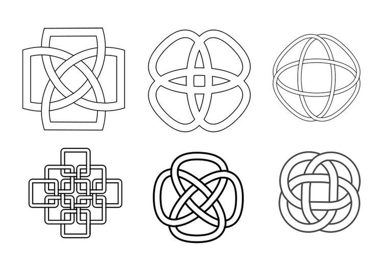 Malvorlage Keltisches Zeichen - Knoten … | Keltische Symbole | Pinte…
