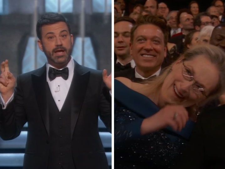 Jimmy Kimmel Uses 'Over-Rated' Meryl Streep to Jab Trump (VIDEO)