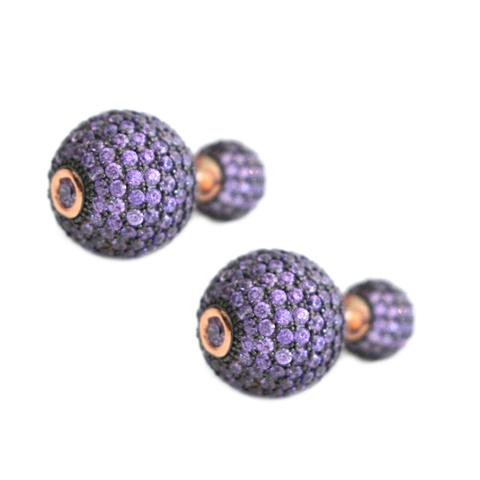 Purple Swarovski Tribal Earrings – Andreia Fuzon Jewelry