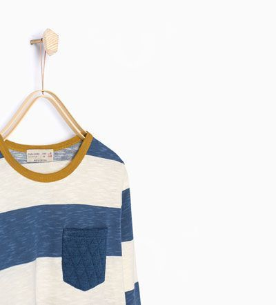 Image 1 of Striped T-shirt with pocket from Zara ,  #Image #POCKET #STRIPED #TSHIRT #ZARA #za... ,  #Image #POCKET #STRIPED #TSHIRT #ZARA #zarakidsshirt