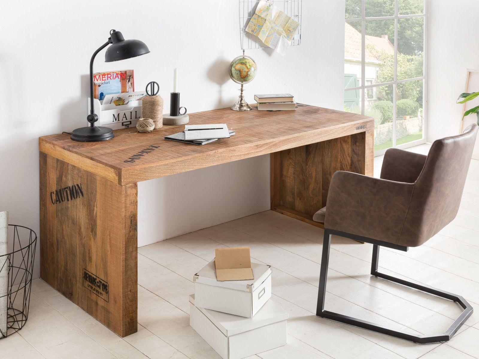 Schreibtisch Hankey Mango Schreibtisch Zu Hause Haus Deko Holzschreibtisch