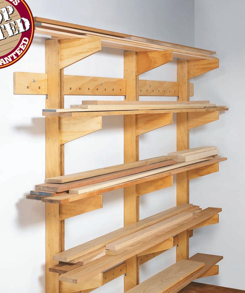 Wall-Mounted Lumber Rack | Woodsmith Plans | Lumber rack ...