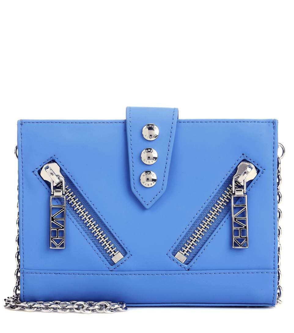 69f0f9dc KENZO Kalifornia Leather Shoulder Bag. #kenzo #bags #shoulder bags #leather  #lining #