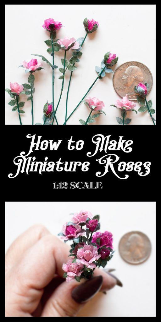 How to Make Miniature Roses | Thicketworks #dollhouseminiaturetutorials How to Make Miniature Roses | Thicketworks #miniaturedolls
