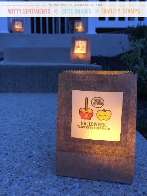 Light Up Halloween Luminaries – Kristine   Sweet Stamp Shop