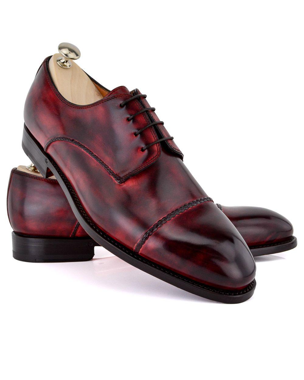 Bontoni Cherry D´Amore Cherry leather loafer Braided captoe 4 eyelet Blake  construction Leather sole