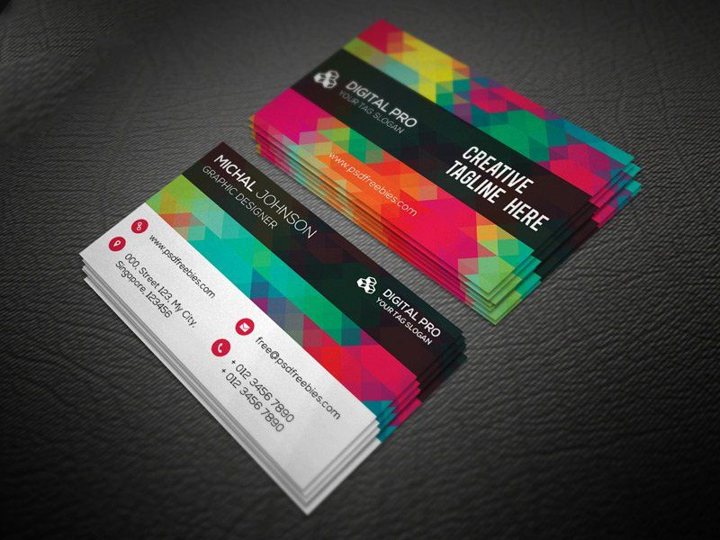 Creative multicolor business card template psd card pinterest creative multicolor business card template psd accmission Image collections