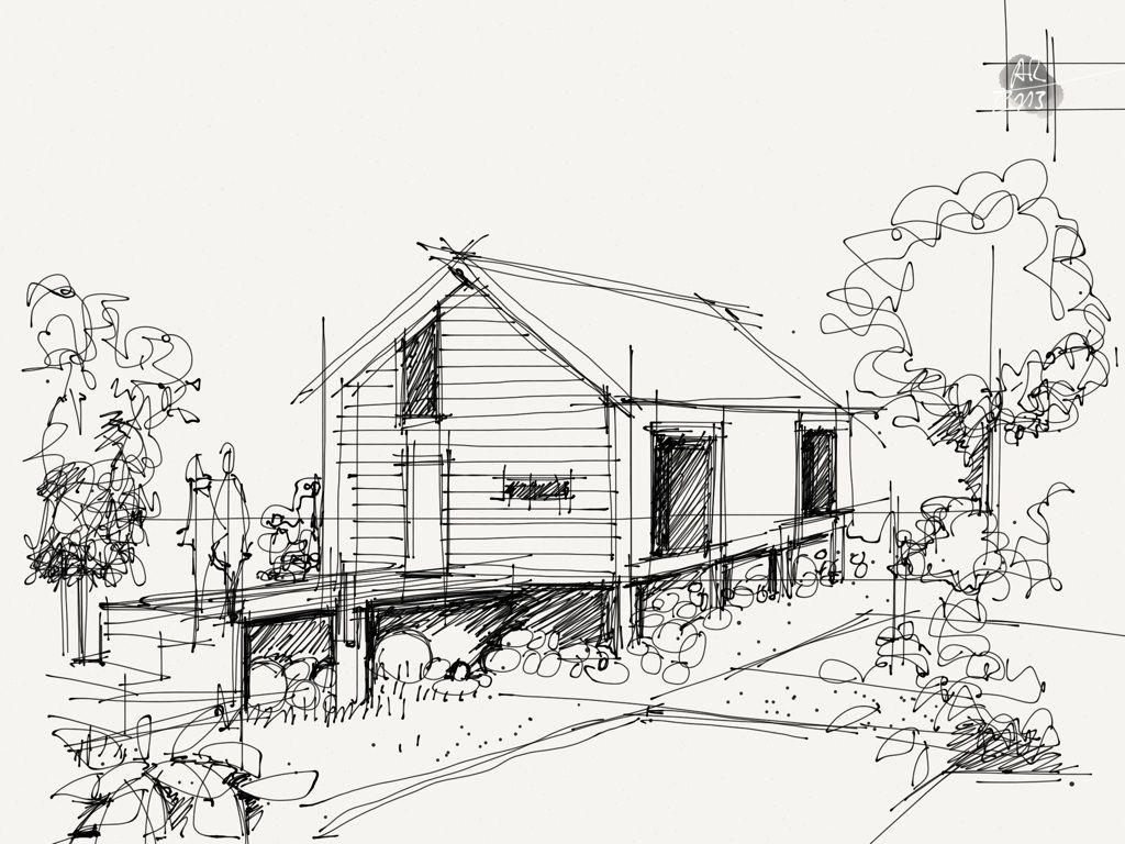 maison sur pilotis interior sketch and architecture pinterest maison sur pilotis maisons. Black Bedroom Furniture Sets. Home Design Ideas