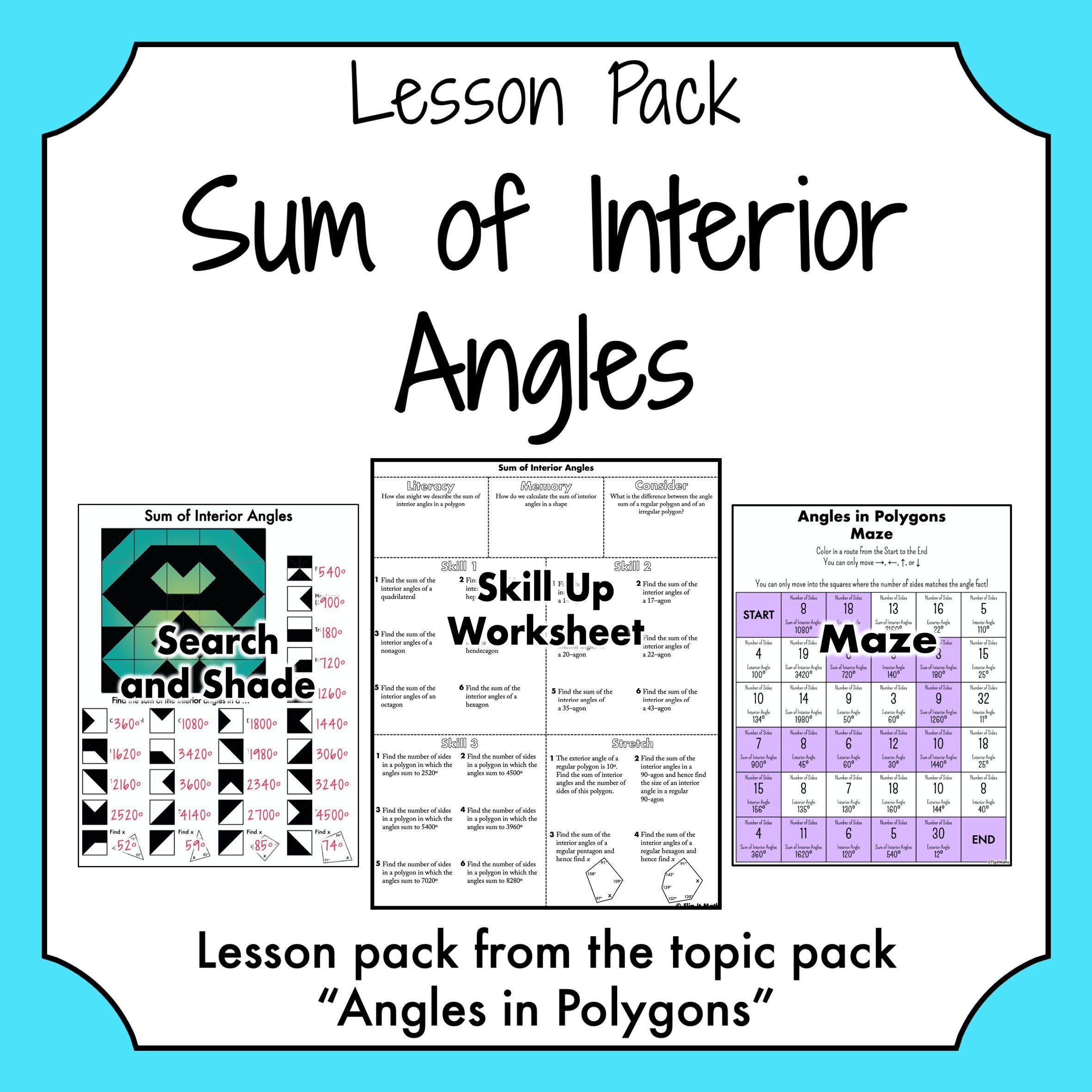 Sum Of Interior Angles In