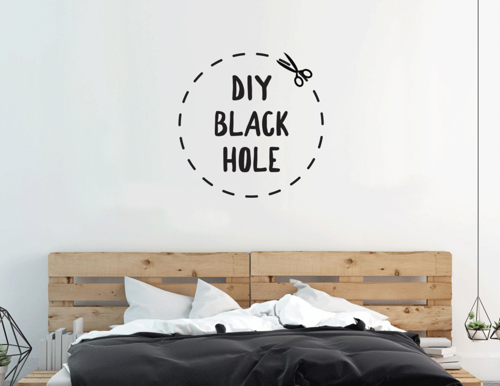 diy black hole wall decal | wall decals | wall decals, wall, decals