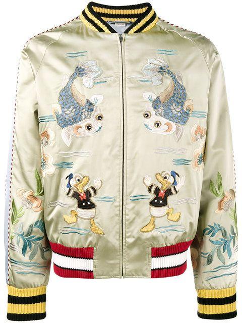 50d0786e8 Gucci Donald Duck bomber jacket | Italian Summer Wedding Mens Looks ...