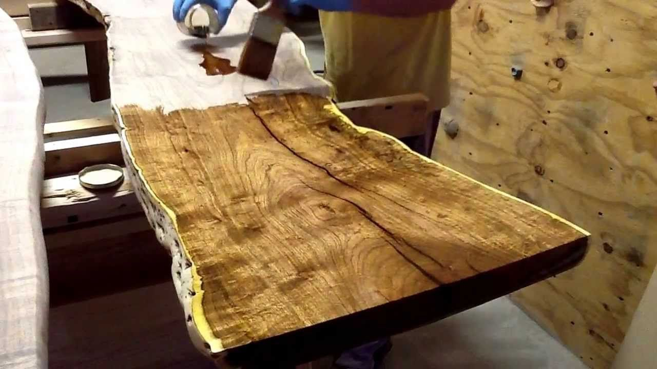 Applying tung oil to top of mesquite slabs for custom for How to finish a wood slab