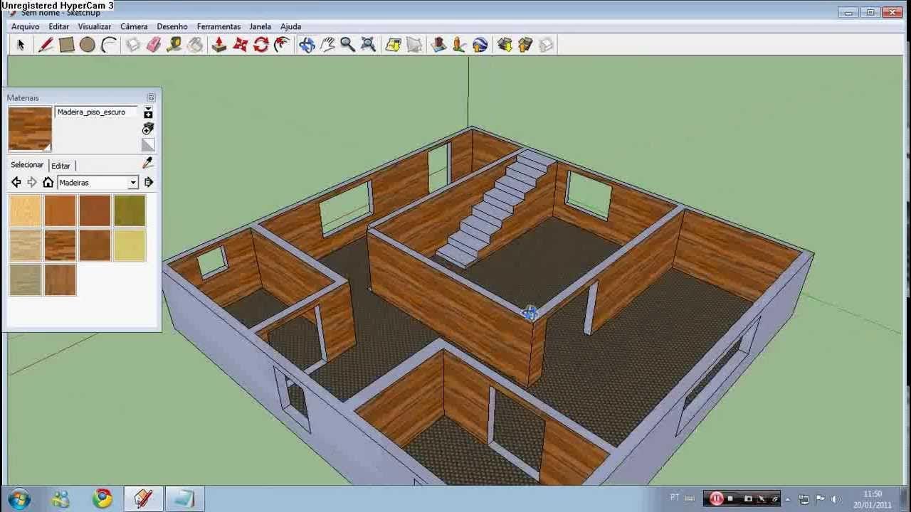Como fazer planta de casa no sketchup f cil aprenda a for Programa para construir casas 3d