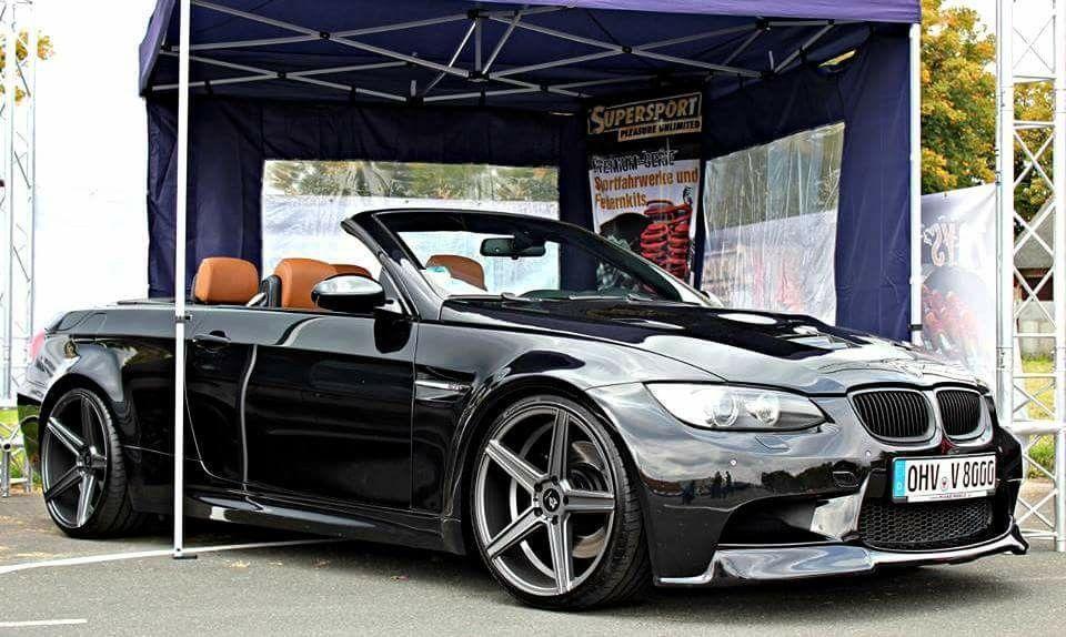Bmw E93 M3 Cabrio Black Bmw Convertible Bmw Bmw Cars