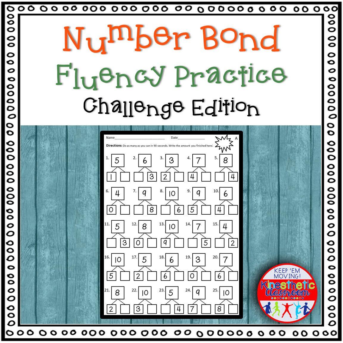 6 Number 12 Worksheet Bond Addition Number Bond Fluency