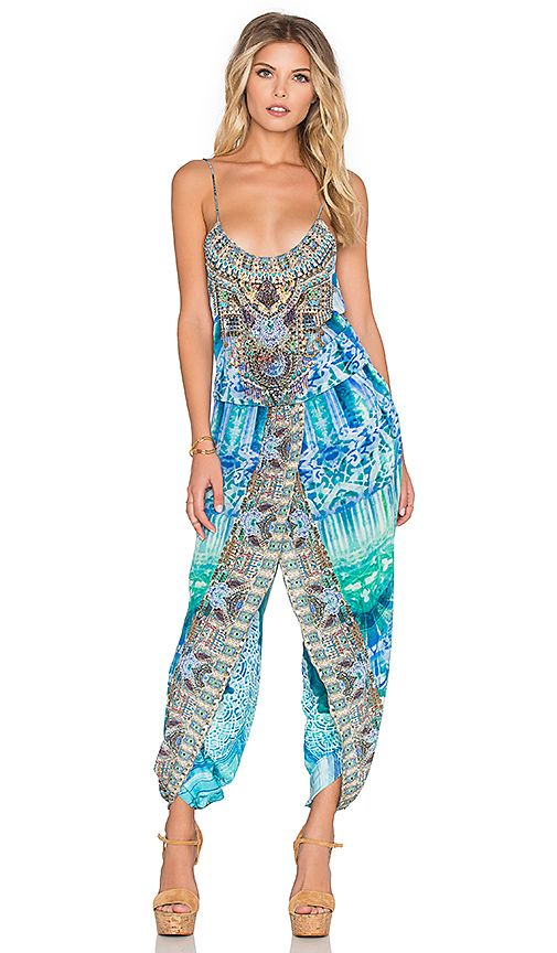 dc48205879 Shop for Camilla Franks Wrap Waist Jumpsuit in Topkapi Sky at REVOLVE. Free  2-3 day shipping and returns