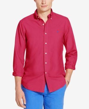 1f62523771 Polo Ralph Lauren Men s Garment-Dyed Shirt - Pink XXL