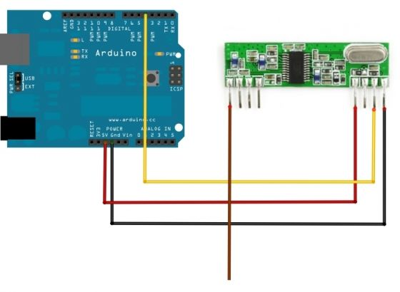 Using rf link reciever and transmitter with arduino