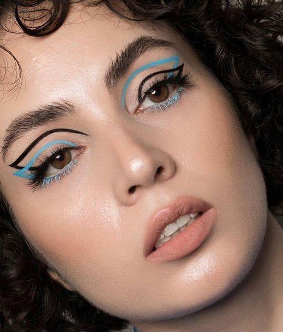 Tendance maquillage : 12 idées de make-up joyeux et colorés pour appeler le printemps, vues sur Pinterest