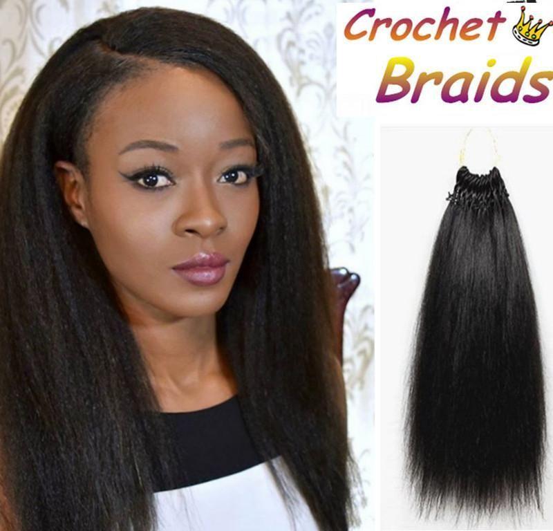 18 Inch Magic Yaki Straight Hair For Crochet Braids Pre Loop Hair
