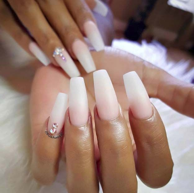 Nail Art Ideas For Coffin Nails - Classic Ombre - Easy ...