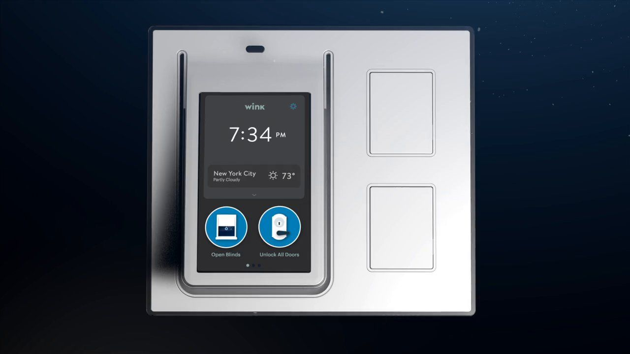 Introducing The Wink Relay 4 3 Lcd Touchscreen For Your Wink Ha System Home Automation Home Automation Hub Touch Screen