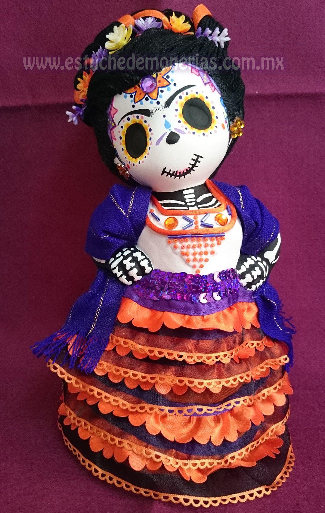 Catrina sugar skull frida kahlo d a de muertos halloween for Cuartos decorados de frida kahlo