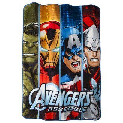 "Avengers Blanket Captain America Iron Man Hulk Thor 90.0 "" L x 62.0 "" W Avengers http://www.amazon.com/dp/B00HBXJ2CQ/ref=cm_sw_r_pi_dp_RRXNtb0R8NWMKQK1"