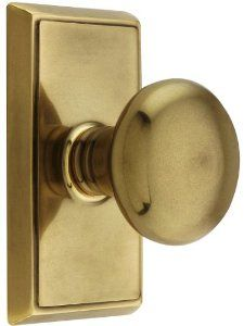 providence door set with round brass knobs privacy in antique