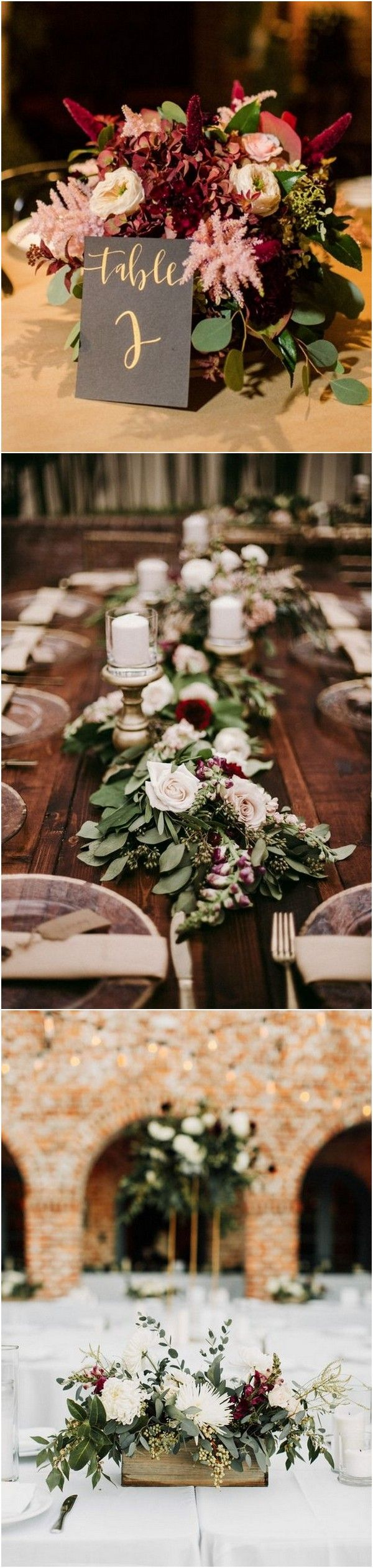 Wedding decorations rustic october 2018 Top  Burgundy Wedding Centerpieces for Fall   Wedding