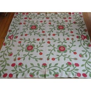Google Afbeeldingen resultaat voor http://vintageblessings.com/prestashop/170-971-large/1800-s-red-green-applique-quilt-whig-rose.jpg