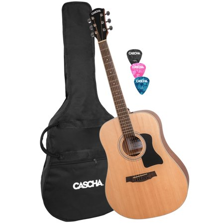 Cascha Dreadnought Acoustic Guitar With Case Picks Walmart Com In 2020 Guitar Kids Acoustic Guitar Ovation Guitar