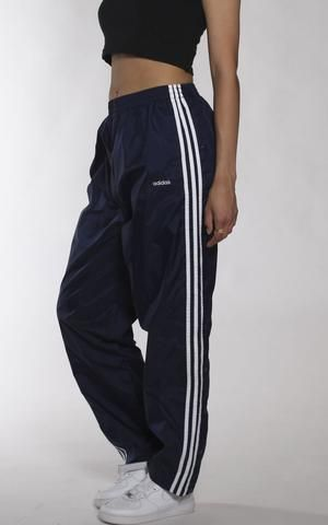 cce26941517a1 Vintage Adidas Tearaway Wind Pants | Fa$hion | Fashion, Vintage ...