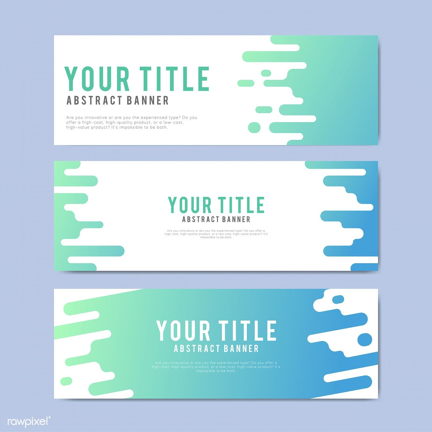 colorful and abstract banner design templates free image by