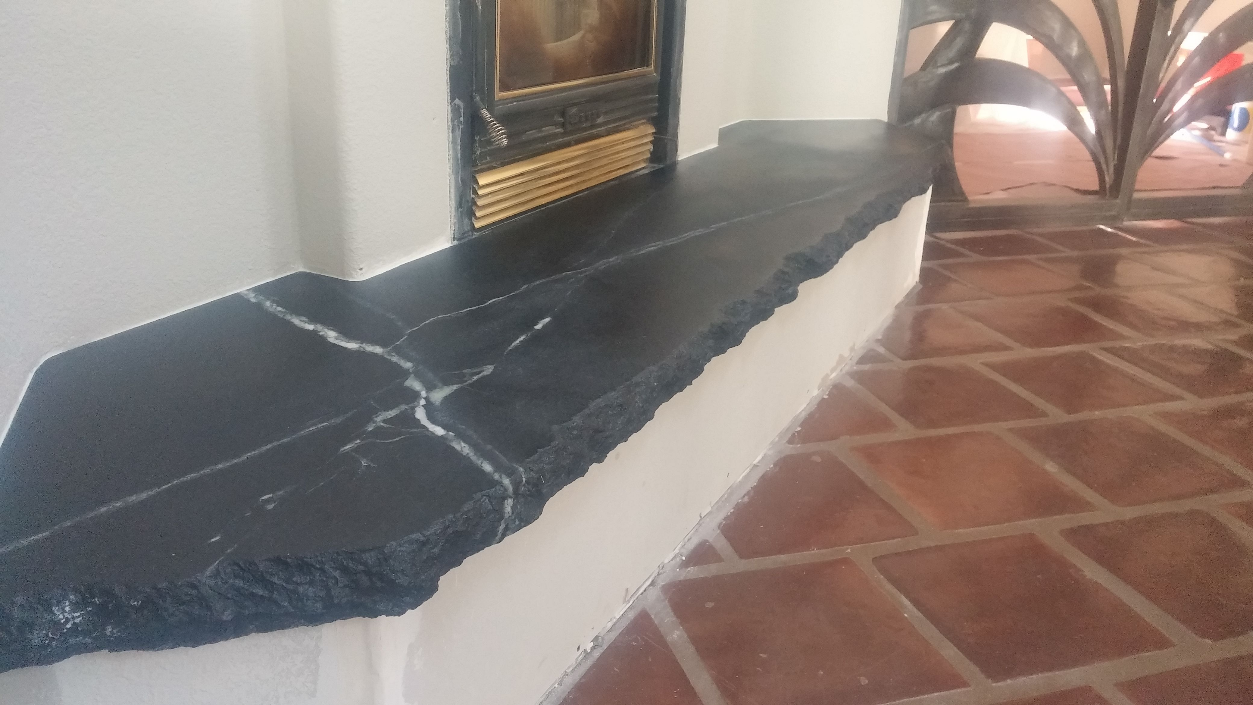 Churchill Reserve Soapstone Hearth With 6cm Chiseled Edge Detail Home Fireplace Fireplace Design Fireplace Mantle