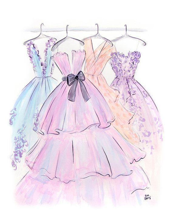 Photo of …pretty dresses…Fashion sketch illustration #drawing #style #fashion #waterc…