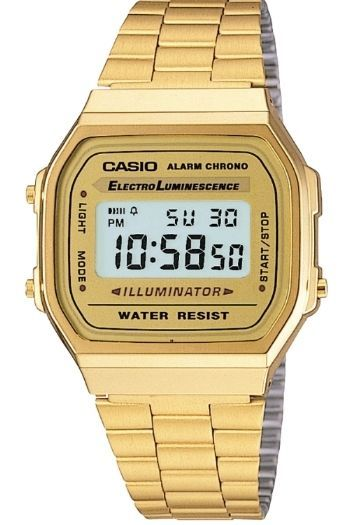 b21938d28ef CASIO MEN S GOLD TONE STAINLESS STEEL DIGITAL WATCH A168WG in Jewelry    Watches