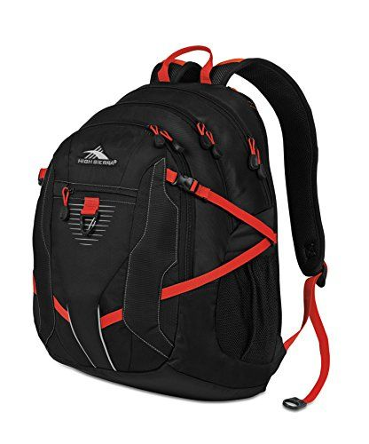 High Sierra Aggro Backpack BlackRed 20x135x85Inch ** Details can be found by clicking on the image.
