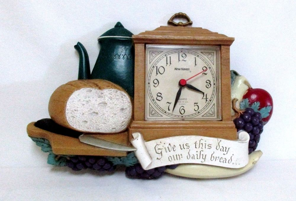 Vintage Burwood Wall Clock Give Us This Day Our Daily