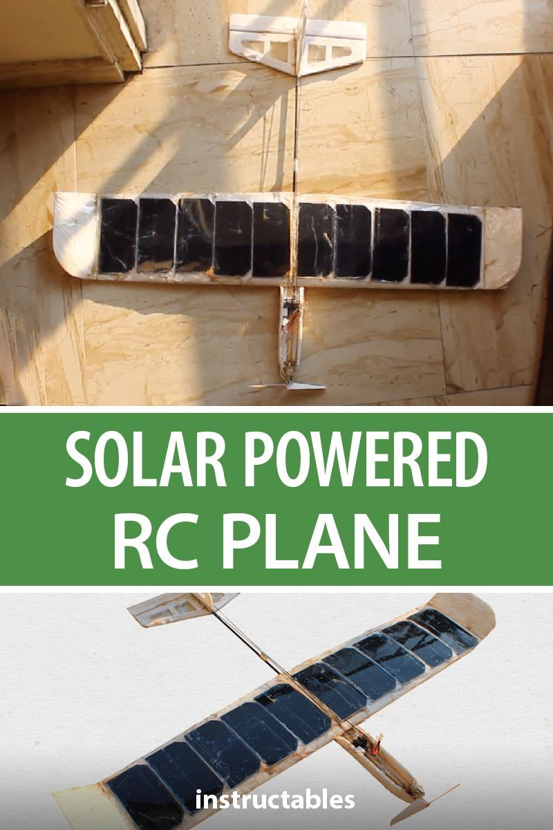 DIY: Solar Powered RC Plane Under 50$ | Electronics Projects