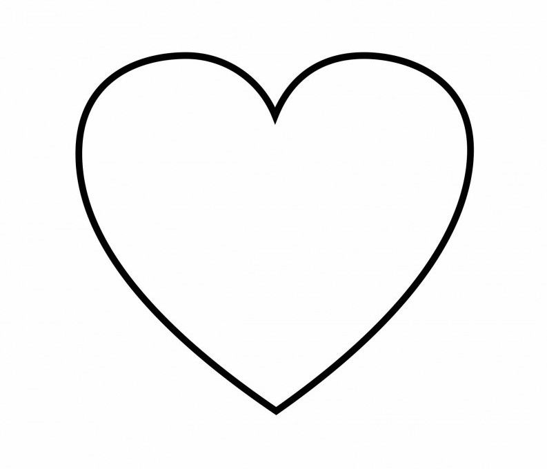 coloring pages heart shapes - photo#2