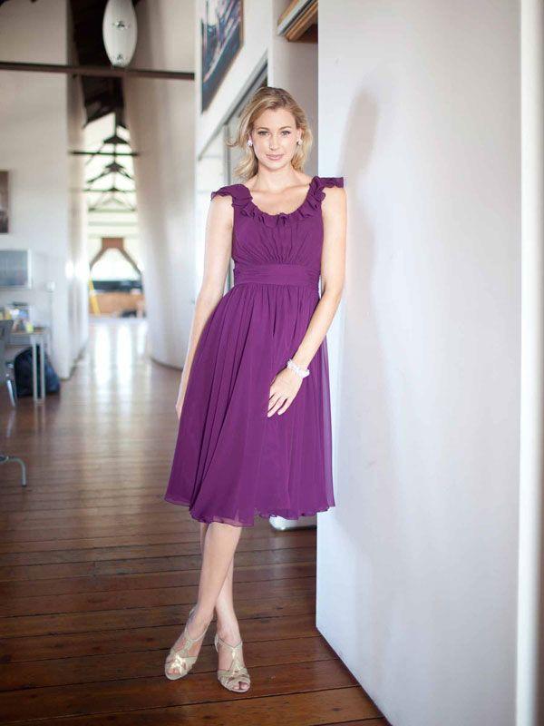 Pretty A-line Natural waist Chiffon bridesmaid dress | clothes ...