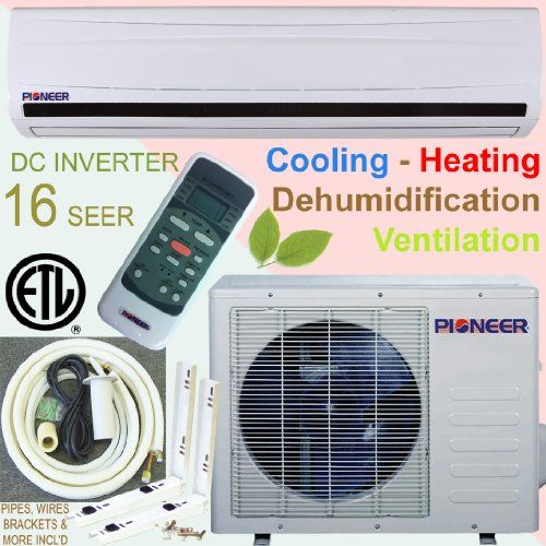 Pioneer Ductless Mini Split Inverter Air Conditioner Heat Pump 30000 Btu 2 5 Ton 16 Seer Cooling Ductless Mini Split Electrostatic Air Filter Heat Pump