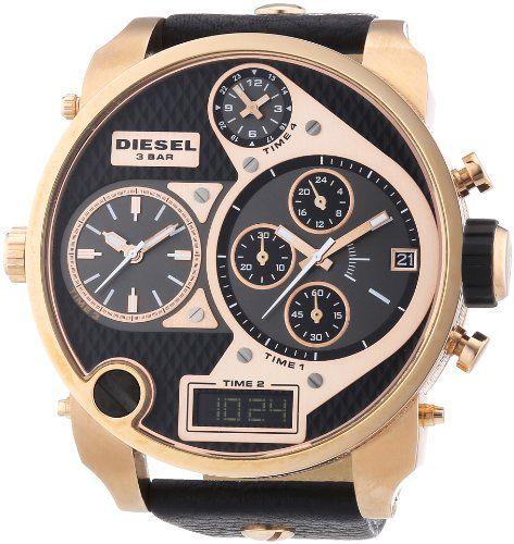 5444905b7cb6 Diesel DZ7261 – Reloj cronógrafo de cuarzo para hombre con correa de piel