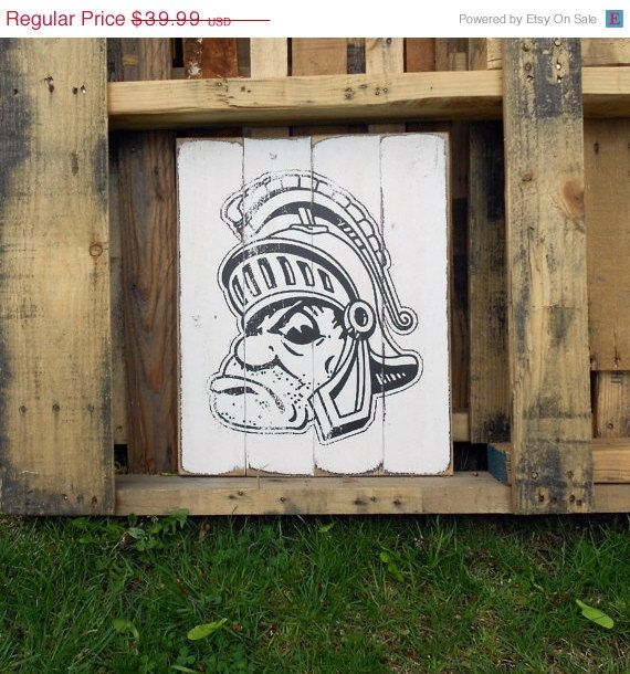 Michigan Wall Art thank you sale michigan state spartans wood wall art 14 x 17