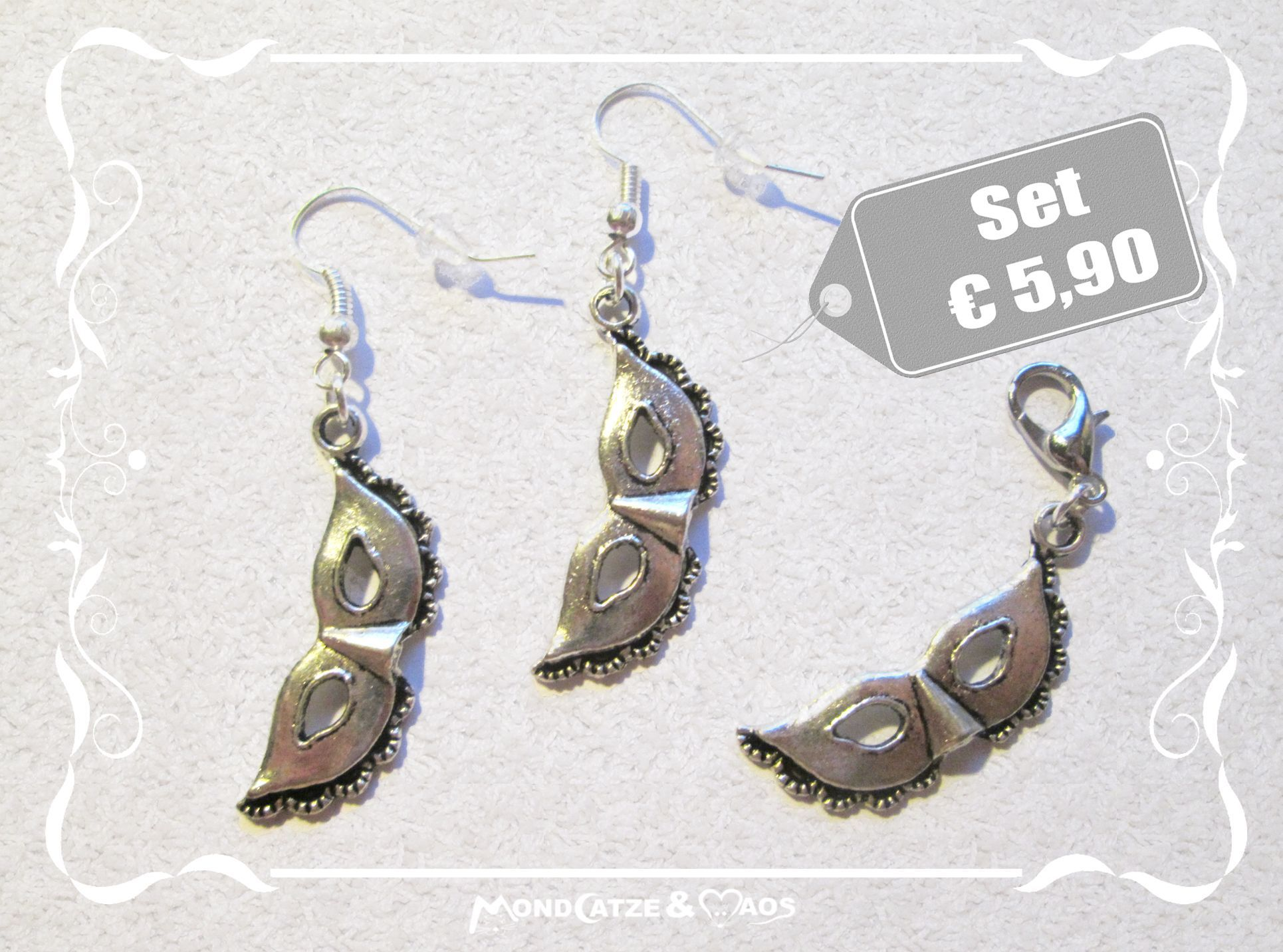 c034 MASKEN, (wanna buy something like this? Earrings, (Earhooks) or Charms? ask me: Mondcatze@fantasymail.de)