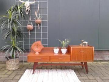 Retro vintage tv meubel kastje dressoir kast deens design