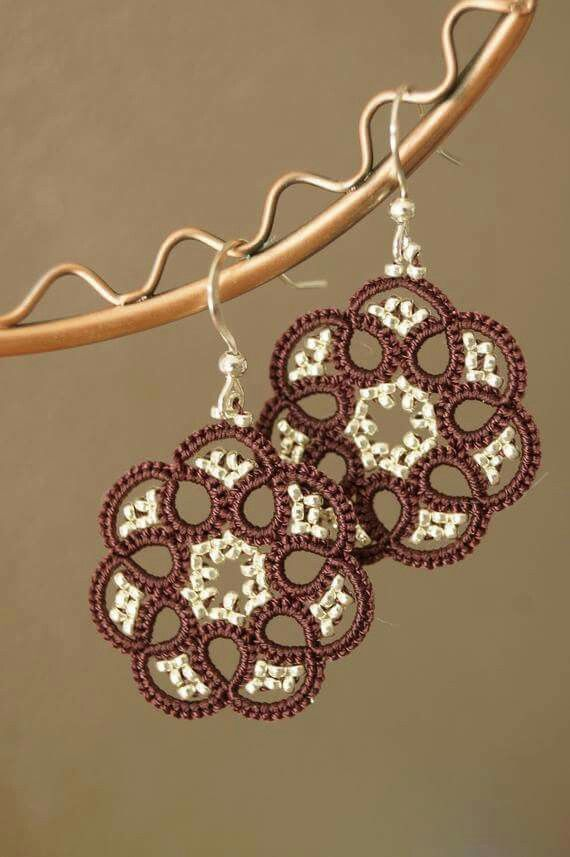 Aretes | Tantalizing Trinkets- tatting | Pinterest | Aritos ...